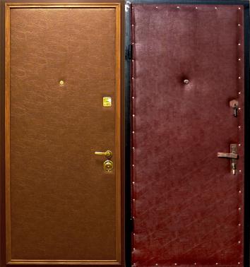 металлические двери с внутренней кожзам отделкой