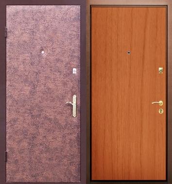 входные двери с внутренней отделкой кожзам