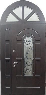 железные арочные двери стекла по бокам