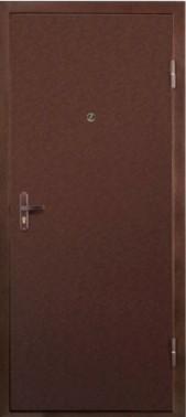 металлическая дверь эконом класса с порошковым напылением