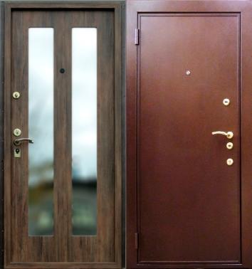 дверь металлическая с зеркалом в наличии